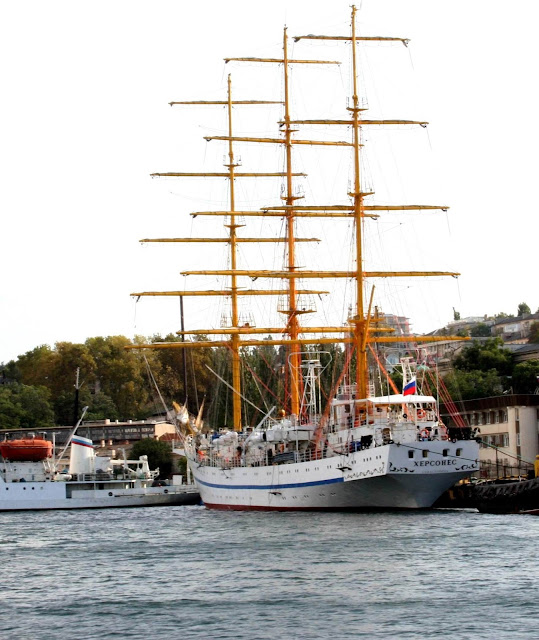 фрегат Херсонес; Khersones or Chersones, a Russian three-mast tall ship, a full rigged ship