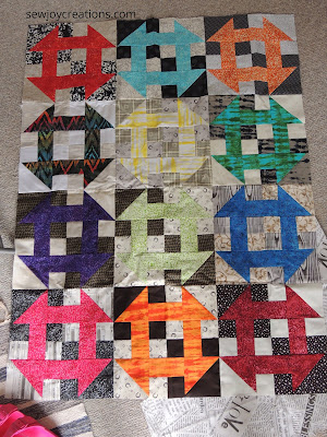 Churn Baby Churn quilt Sew Joy Creations rainbow