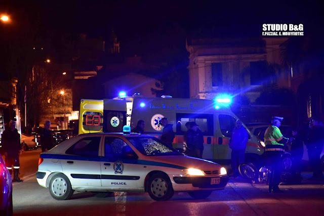Τροχαίο ατύχημα με τραυματία στο Ναυπλιο (βίντεο)