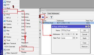 IP Pool dengan Winbox