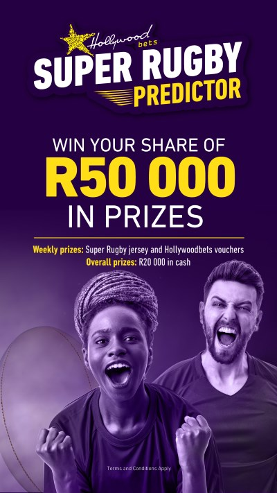 Super Rugby Predictor - Win your share of R50,000 in Prizes with Hollywoodbets