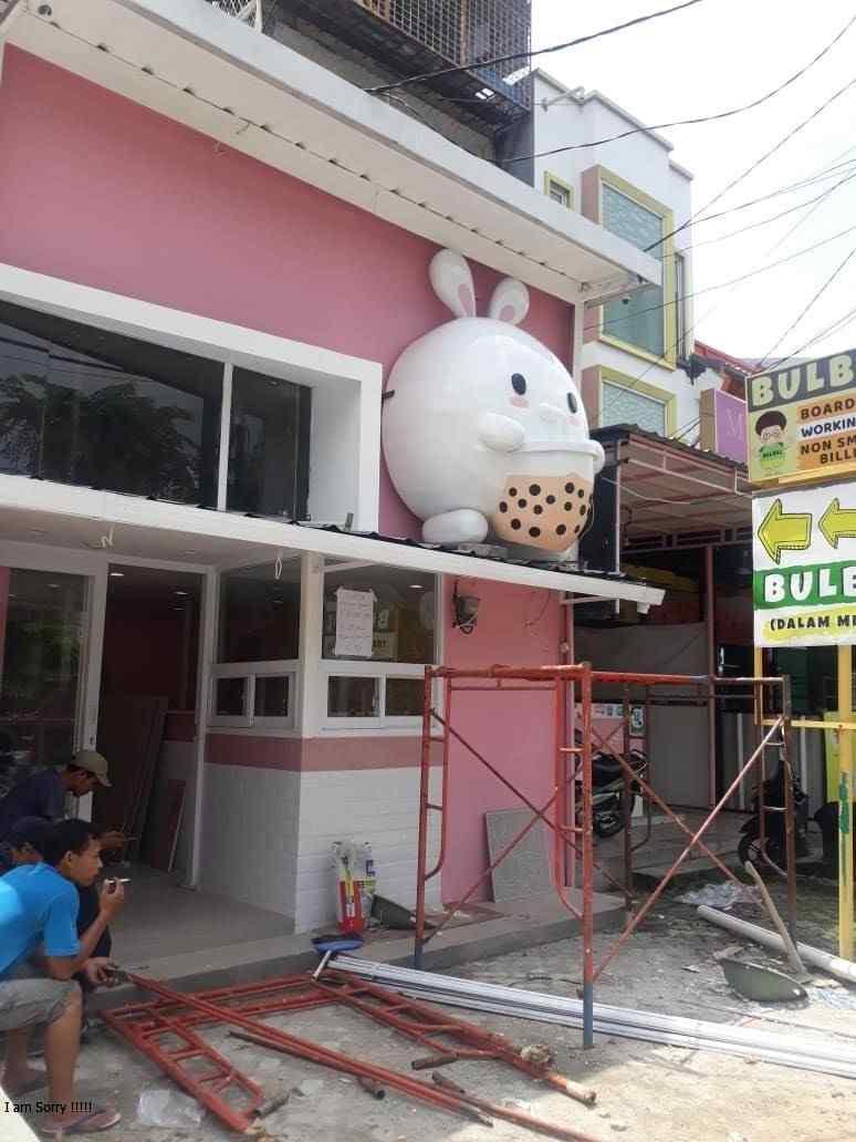 Pemasangan Fiberglass Mascot Mimoro