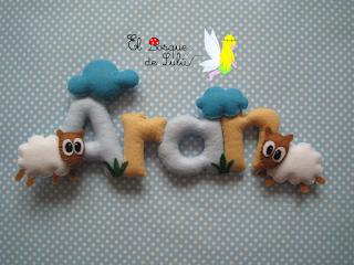 nombre-fieltro-decoración-infantil-Aran-Max-elbosquedelulu-regalo-nacimiento-detalle-origianl-personalizado