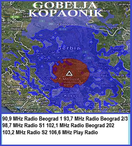 Mapa pokrivenosti Gobelja-Kopaonik