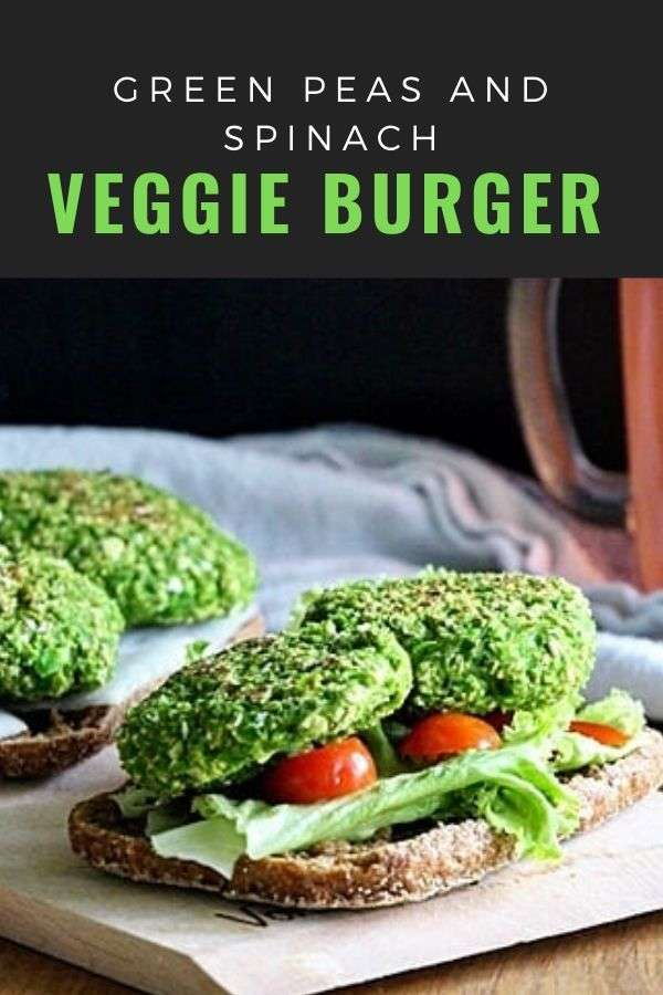 Green Peas and Spinach Veggie Burger
