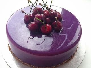 Mirror Cake Violet (Cake Mirror Ungu)