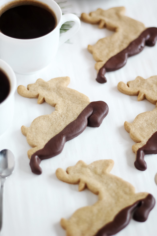 Muddy Reindeer Cookies Chocolate Dipped Gingerbread Sprinkle Bakes
