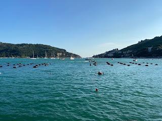 Gulf of Spezia between Palmaria and Portovenere