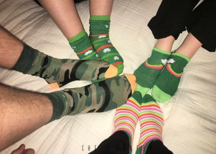 monthly traditions |  March - St Patrick's Day socks