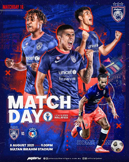 Live Streaming JDT vs Sabah 8.8.2021