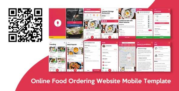 Best Online Food Ordering Website Mobile Template