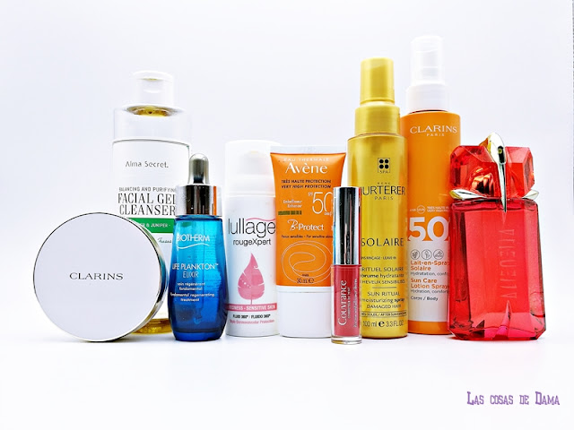 favoritos verano clarins mugler lullage biotherm rene furterer avéne beauty maquillaje makeup hair sunprotect