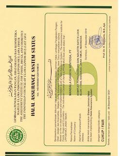 sertifikat halal mui imogen