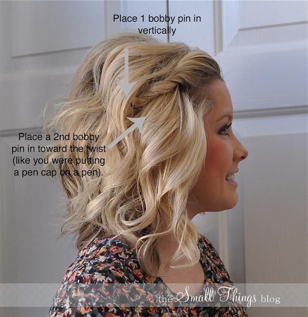 front side twist hair tutorial