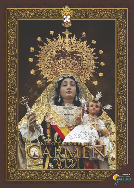 Cartel de la Hermandad del Carmen de Rota 2021