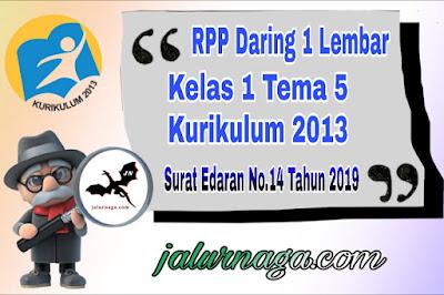 RPP Kelas 1 Tema 5