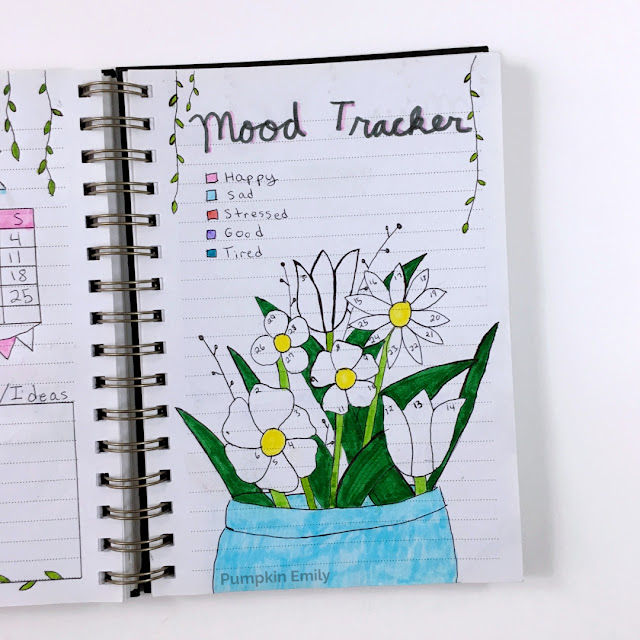 Flower Bullet Journal Mood Tracker
