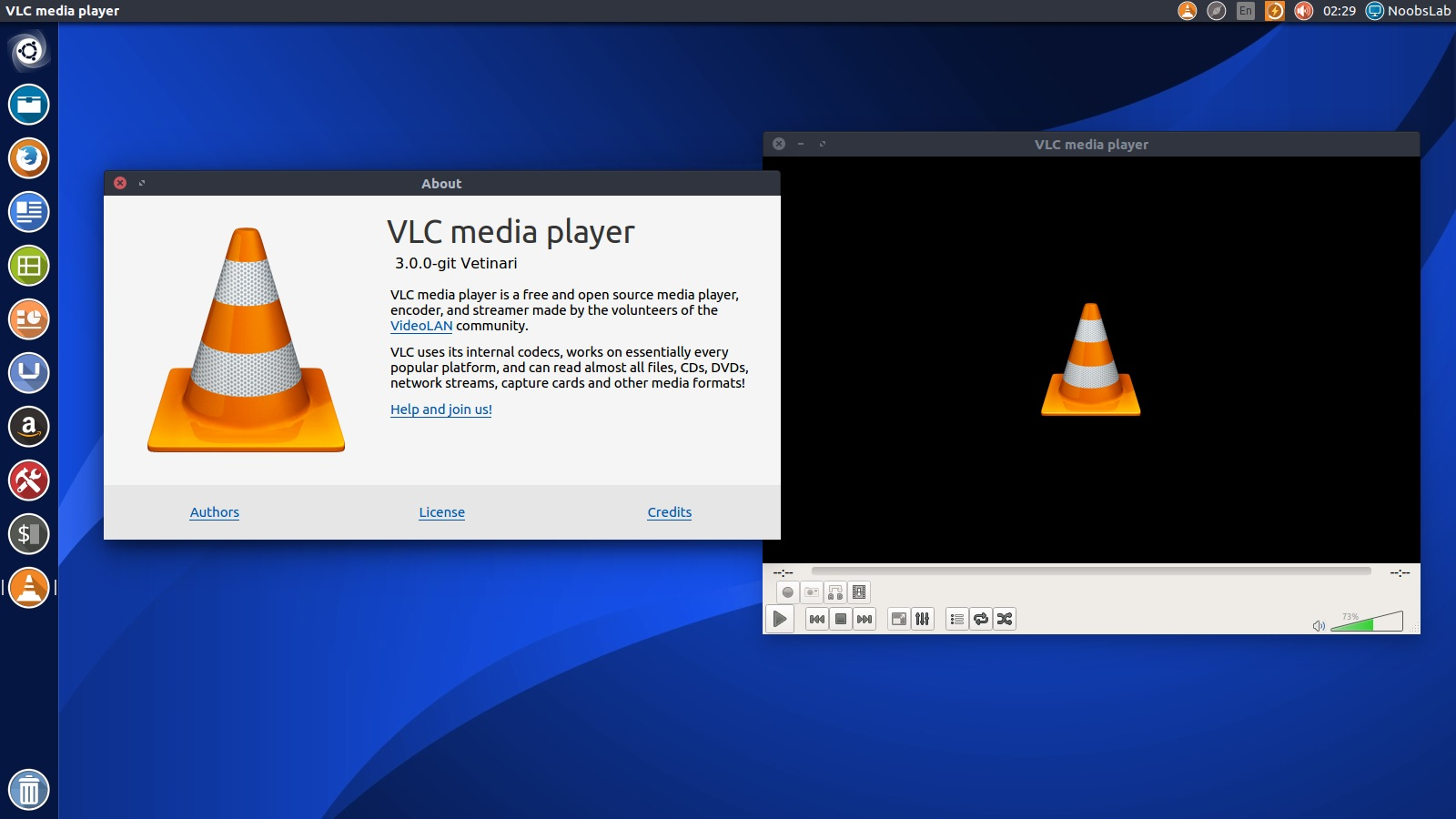 VLC media player with skins for Ubuntu/Linux Mint/other