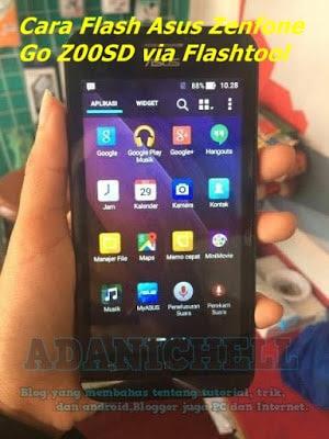 Cara Flash Asus Zenfone Go Z00SD via Flashtool