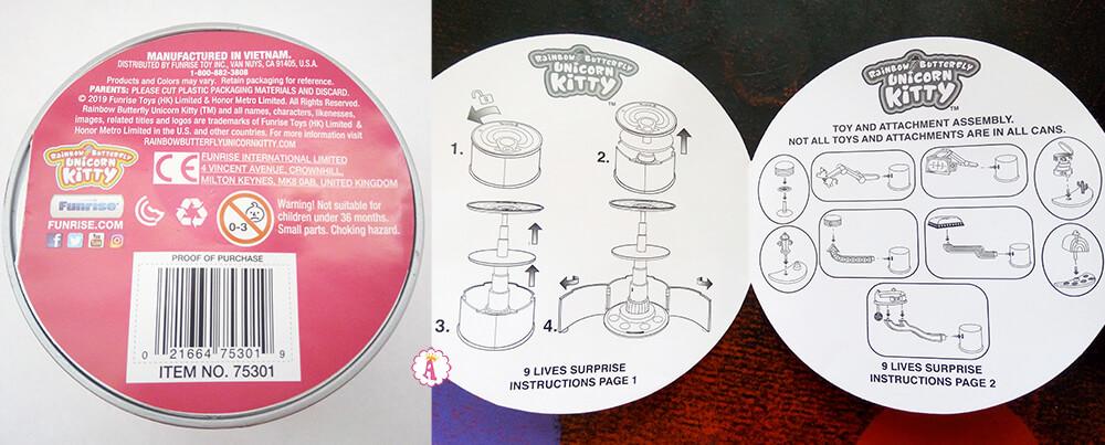 Инструкция к игрушке Rainbow Butterfly Unicorn Kitty 9 Lives