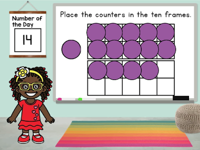 Learning to represent a number on a tens frame helps students understand the quantity