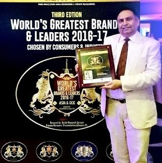 Dabur International's CMO honoured at World's Greatest Brands and Leaders 2016-2017 in Dubai