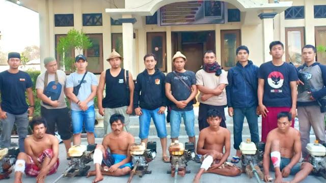 Polres Lotim Dor Empat Pencuri yang Sering Beraksi di Pantai Ekas Jerowaru