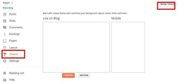 Blogger par theme kaise change karte hai
