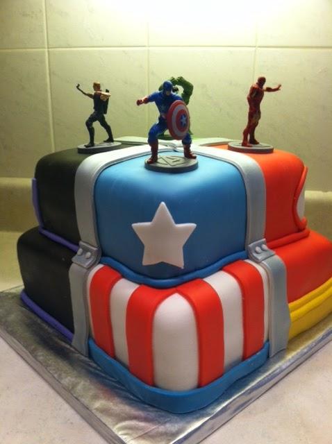 Marshmallow Masterpieces Avengers Cake