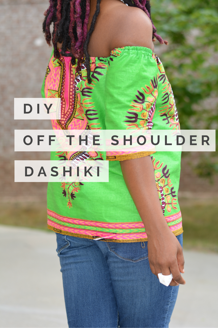 di y off the shoulder dashiki