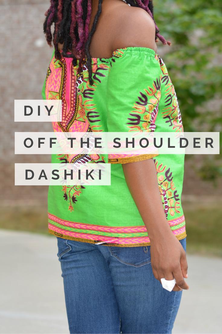 di y off the shoulder dashiki