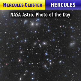 Hercules Cluster (Abell 2151) featuring mostly spiral galaxies