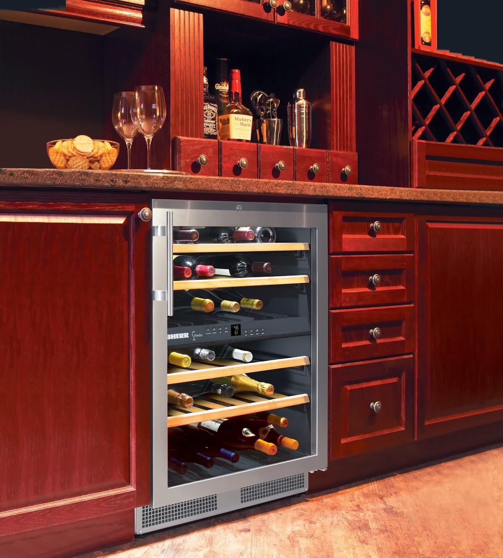 Liebherr Wine Cellar Shown In Wine Bar