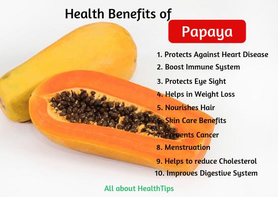 Health Benefits of Papaya, Papaya Nutrition, Papaya benefits for Skin, Hair, Weight Loss.