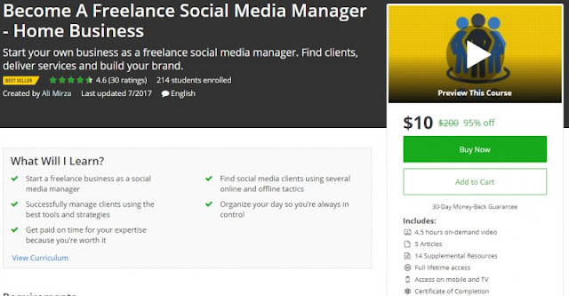[BESTSELLING] Become A Freelance Social Media Manager - Home Business| Worth 200$