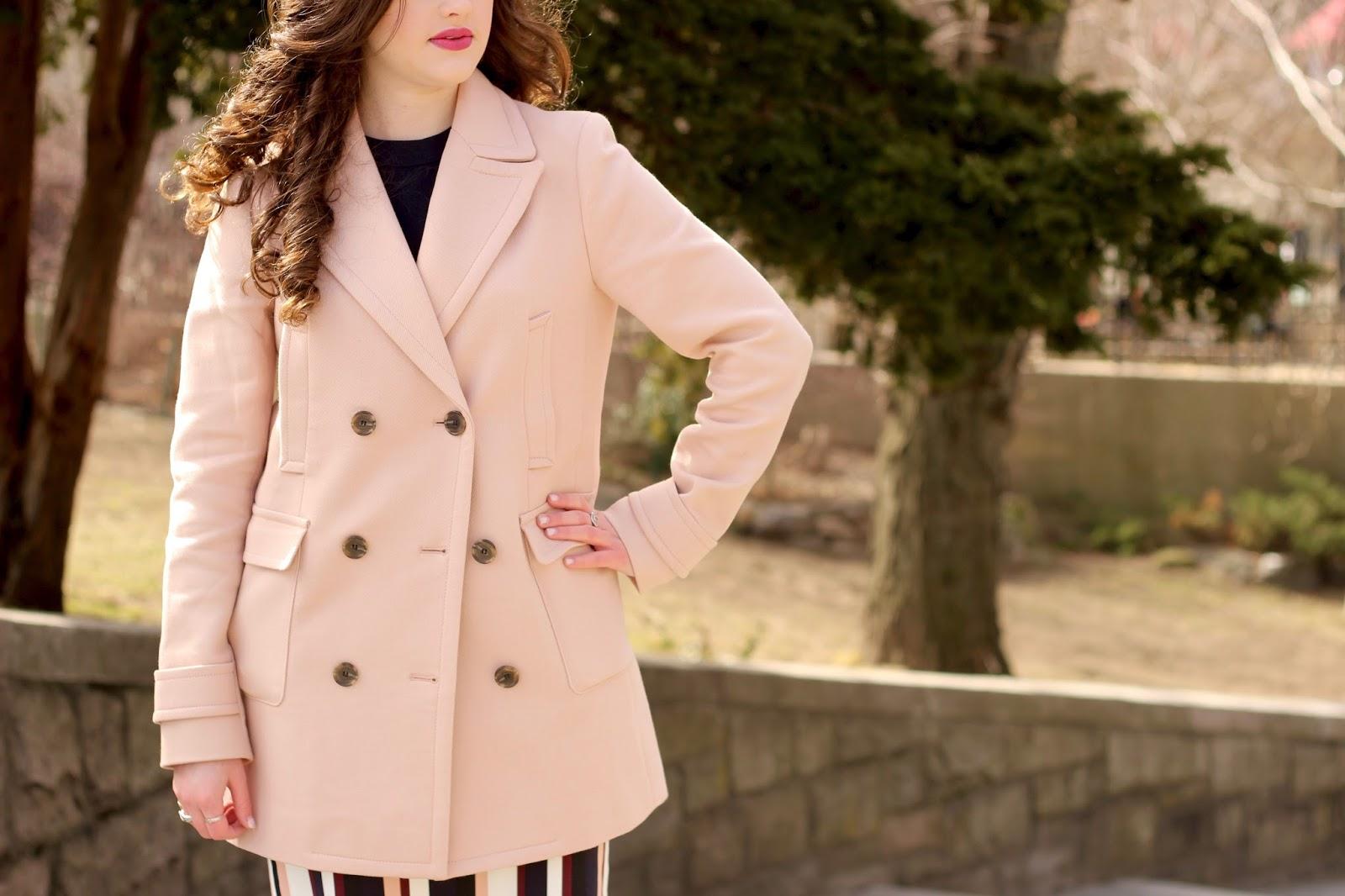 pink coat jacket spring