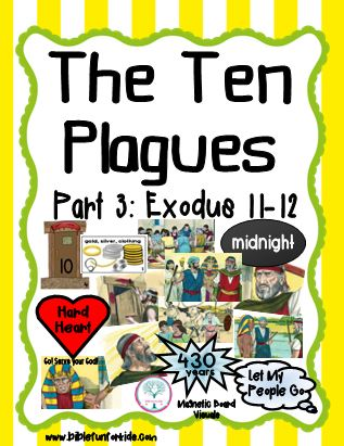 Bible Fun For Kids Moses The 10 Plagues Visuals Part 3