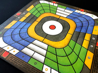 The colourful board from Castle of Mind