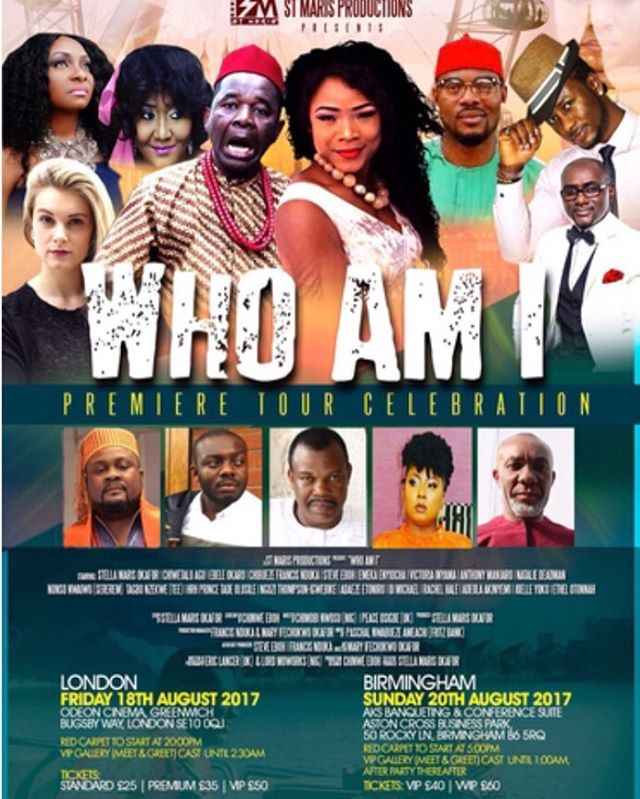 Fri/18/Aug: London Premiere of Stella Maris Okafor's WHO AM I @ Odeon Cinema