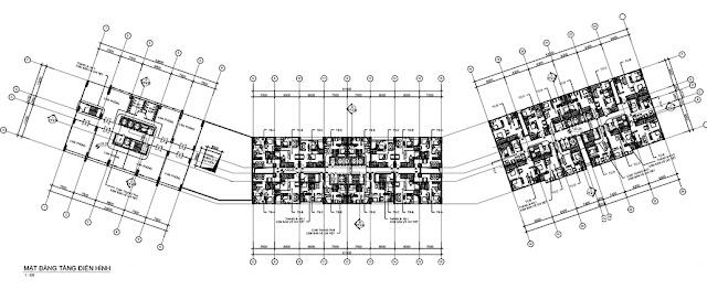 Mặt bằng thiết kế căn hộ Intracom Riverside 8 Vĩnh Ngọc