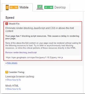 Trik Mengatasi Render-Blocking Javascript Ddari Jquery