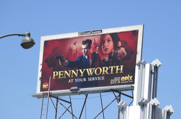 Pennyworth series premiere billboard