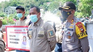 Pjs. Bupati dan Kapolres Tana Toraja Kawal Ops Yustisi yang Dilaksanakan Terpadu