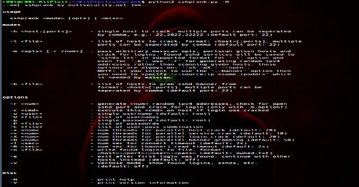 SSHPrank : A Fast SSH Mass-Scanner, Login Cracker & Banner Grabber