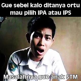 Meme anak STM