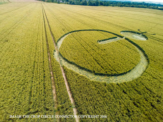 Круги на полях Stanton Bridge, nr Alton Barnes Wiltshire. Reported 8th July possible fake crop circle non alien