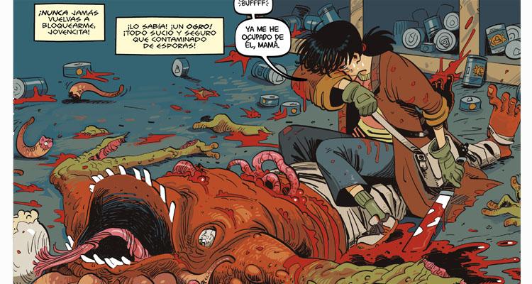 detalles de Apocalypse Girl, de El Torres y Ramiro Borrallo