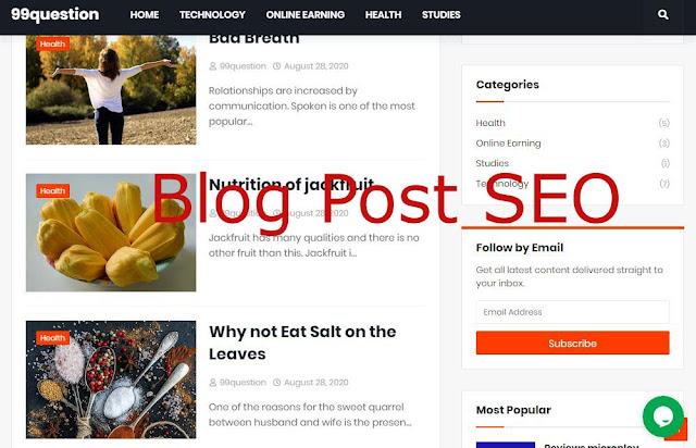 blog post seo