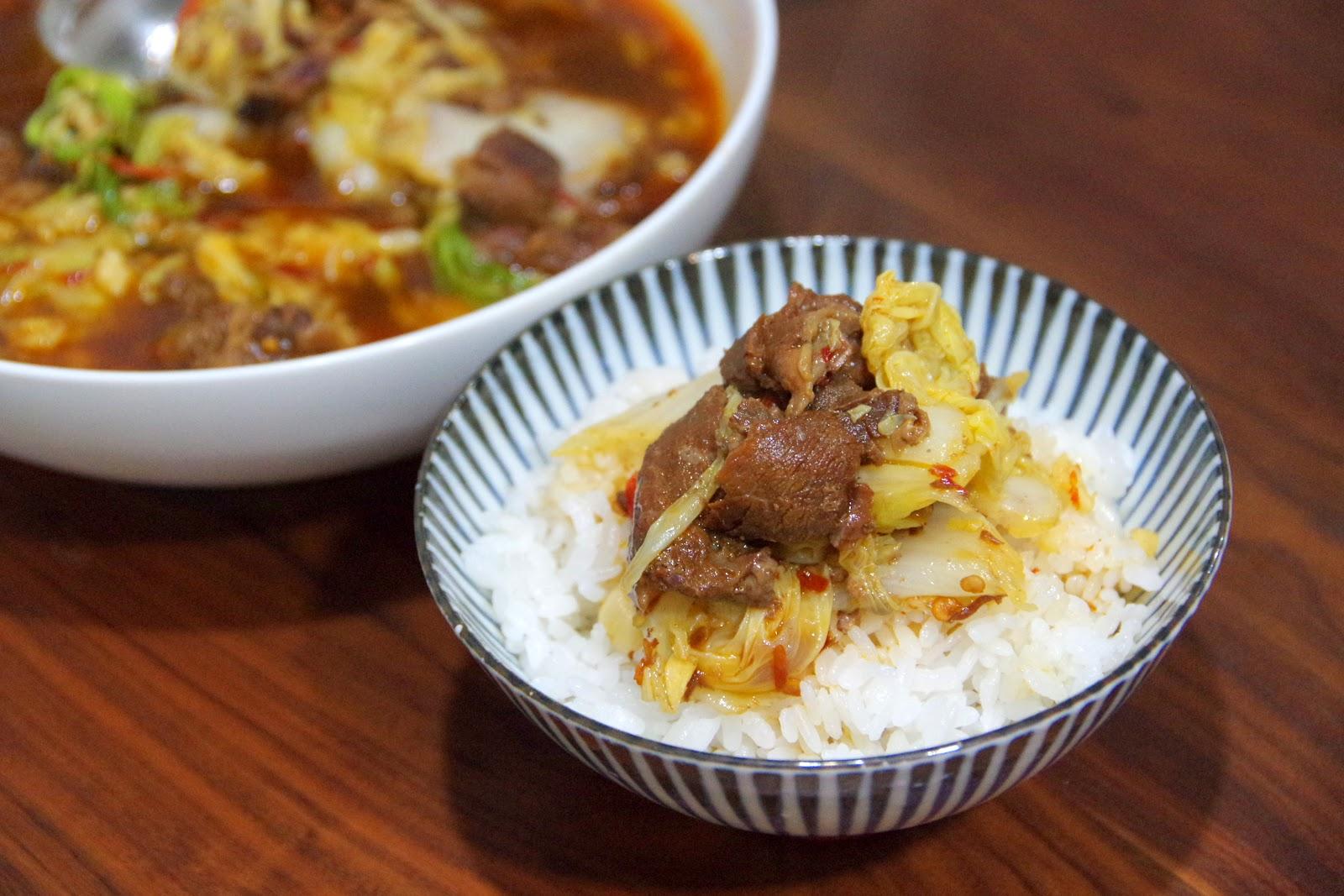 白菜燉牛肉