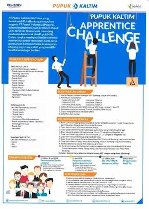 Lowongan Magang Pupuk Kaltim Apprentice Challenge